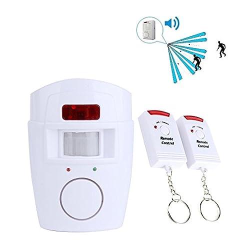SAVFY® Mini Alarme Maison Sans fil Infrarouge IR Sécurité PIR