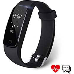 Pulsera Inteligente, Aneken Pulsera Actividad Bluetooth IP67 con Monitor de Dormir, Monitor de Ritmo Cardico, Notificacin de Mensaje, Monitor Cardio, Pulsera Deporte para Android y IOS Telfono