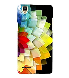 Fiobs Designer Back Case Cover for Oppo F1 :: A35 (Multi Color Full Flower)