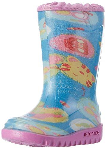 Romika Unisex-Kinder Kitty Gummistiefel Blau (blau-multi)