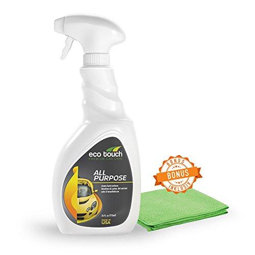 Lack Entfetter - Motorreiniger Auto, Motorrad - Autolack Reiniger mit GRATIS Tuch - Bio Universalreiniger für Auto, Haushalt, Motorrad - Auto Detailer ohne Chemie & Duftstoffe - 500 ml Spray