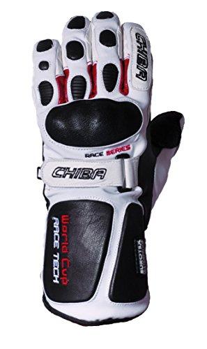 Chiba Erwachsene Ski-Handschuhe World Cup, Weiß, 9, 91501