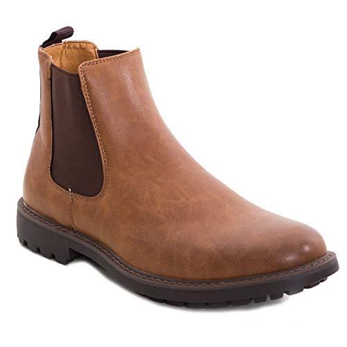 Toocool - scarpe uomo stivaletti elastico polacchine ecopelle anfibi eleganti stivali 36e [41,marrone]
