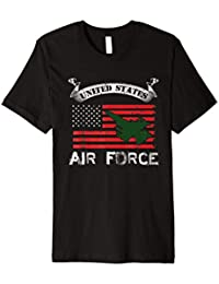 Air Force shirt US Flag F-16 Fighter Falcon Pride Tee Shirt