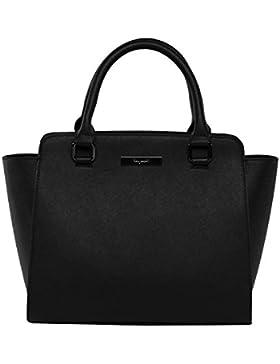 tragwert. Handtaschen Damen Tote Bag Henkeltasche LILLY Damenhandtasche in schwarz - Handtasche Damentasche als...