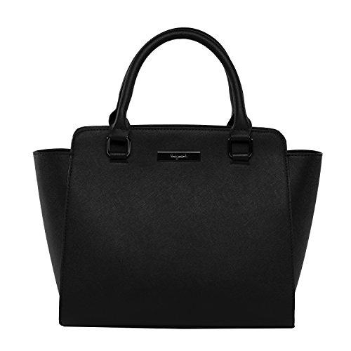 tragwert. Damen-Handtasche Henkeltasche Tote Bag LILLY aus veganem Leder in schwarz I Damentasche als moderne Schultertasche oder Umhängetasche