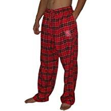 NCAA Mens North Carolina State Otoño/invierno manada de lobos pantalones de pijama a cuadros, NCAA, hombre, color Rojo - rosso, tamaño L