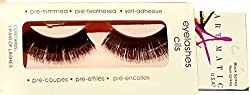 ARTMATIC Imported 1 Pair Black Natural Thick Long False Eyelashes with Adhesive - 518-002