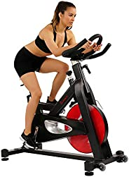 Sunny Health & Fitness Unisex Adult SF-B1714 Evolution Pro Magnetic Belt Drive Indoor Cycling Bike - Black