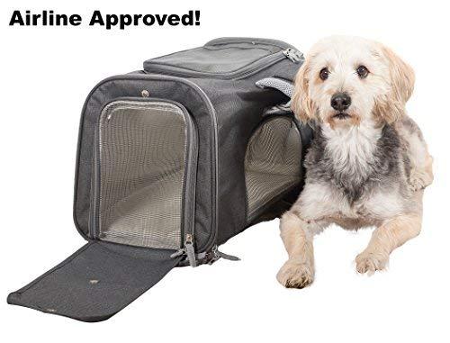Products4Now Transportbox für Haustiere, weich, für Katzen, kleine Hunde und Haustiere. Stabile Deluxe Reisetasche mit Schultergurten, Netzfenster und Fleece-Bettwäsche. Kompatibilität unter dem Sitz - Taxi Kleine Haustier