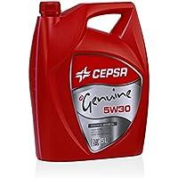 CEPSA GENUINE 5W30 SYNTHETIC (5L) Lubricante sintético para vehículos gasolina y diésel