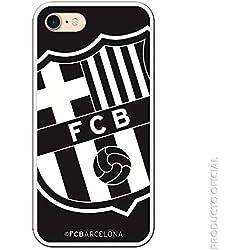 FC. Barcelona Carcasa Escudo Grande Negro para iPhone 7-8