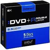 Intenso DVD+R 8.5GB, DL, 8x - DVD+RW vírgenes (DL, 8x, DVD+R, Caja de joyas)