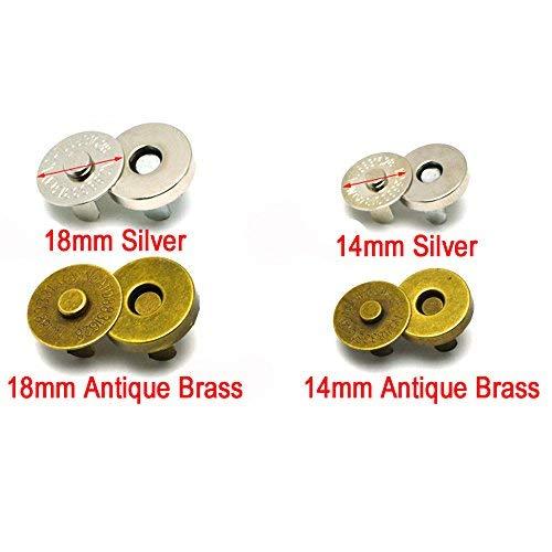 20Sets Magnetischer Knopf Verschluss Druckknöpfen Magnetverschluss Geldbörse Verschlüsse Snap gemischt in zwei Farben - Magnetische Snaps Geldbörse Verschlüsse