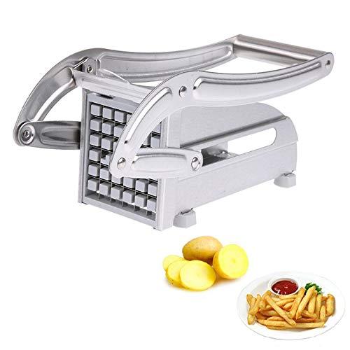 L.SMX Mandoline Slicer Gemüseschneider 2 Klingen Edelstahl Home Pommes Frites Kartoffelchips Streifenschneider Kartoffelherstellung Werkzeug Cutter Chopper Maschine -
