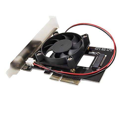 (D DOLITY PCI-E PCI Express 3.0 X 4 auf M.2 M SCHLÜSSEL NGFF SSD Adapterkarte mit Lüfter Unterstützt PCIe Gen3 und PCIe Gen2)