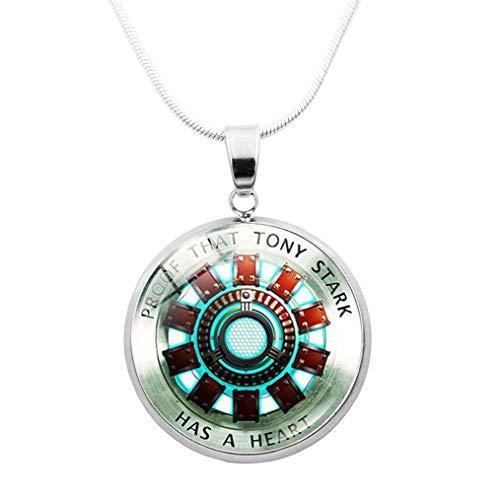 qingning Tony Stark Halskette I Love You 3000 Necklace Cosplay Endgame Zubehör Kostüm (Halloween Arbeit Kostüme Original Für)