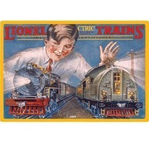 Railroad Tin Sign-Lionel - Boy With Trains by AR