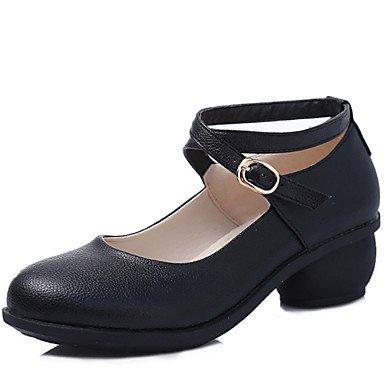 Scarpe da ballo-Non personalizzabile-Da donna-Sneakers da danza moderna / Moderno-Tacco cubano-Di pelle-Nero / Marrone / Rosso / Bianco Black