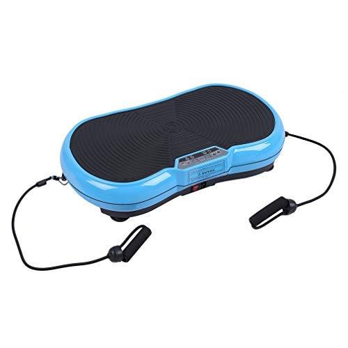 Hehilark Rutschfest Shaper Vibrationsplatte Vibrationsgeräte Vibration Plate Ganzkörper Trainingsgerät inkl. Trainingsbänder & LED Screen& Schutzmatte (Blau)