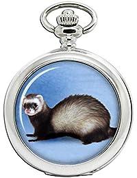 Family Crests Ferret Reloj Bolsillo Hunter Completo