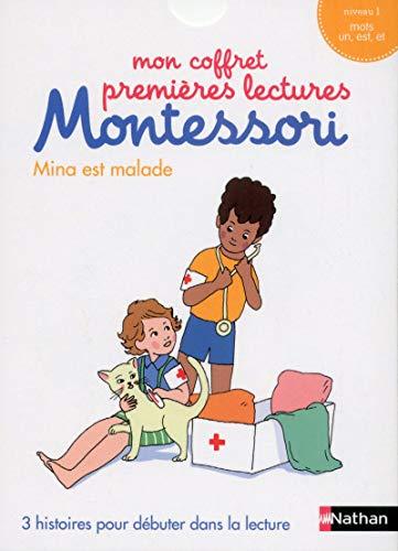 Mon coffret premières lectures Montessori : Mina est malade - Niveau 1 - 4/7 ans par Sabine Hofmann