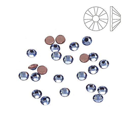 Swarovski Elements Swarovski Hotfix-Kristalle 2038, heller Saphir, 24 Stück -