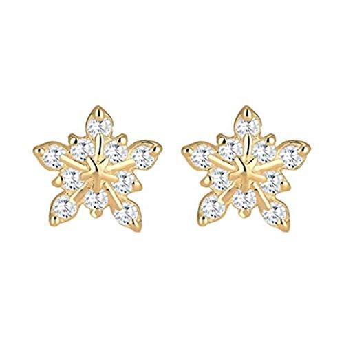 NYAOLE 1 Paar Frauen Mädchen Schneeflocke Ohrringe Cute -