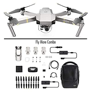 DJI Mavic Pro Combo Platinum Portable Drone 3-Axis Gimbal & 4K Camera, Enhanced Endurance High-end Flight Performance - Platinum