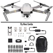 DJI Mavic Pro Platinum Fly More Combo - Dron Quadricóptero, Nivel de Ruido 4 dB, Duración de Batería en Vuelo