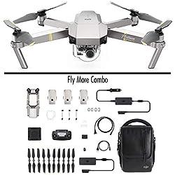 DJI Mavic Pro Platinum Fly More Combo (Versión UE) - Dron Quadricóptero, Nivel de Ruido 4 dB, Duración de Batería en Vuelo 30 Minutos, Radio Control y Videocámara 4K, Rango 7 Km, Imagen 12 MP - Gris