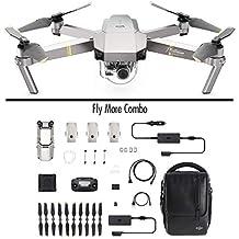 DJI - Mavic Pro Fly More Combo Platinum (Version UE) | Incl. 1 Drone Quadricoptère, 3 Batteries de Vol Intelligente, 1 Radiocommande, 1 Chargeur Voiture & Autres | Photos & Vidéos en Haute Résolution