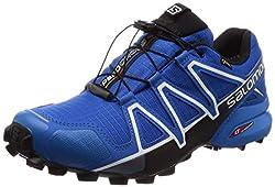 Salomon Herren Trail Running Schuhe, SPEEDCROSS 4 GTX, Farbe: blau (Sky Diver/Indigo Bunting/Black) Größe: EU 46 2/3