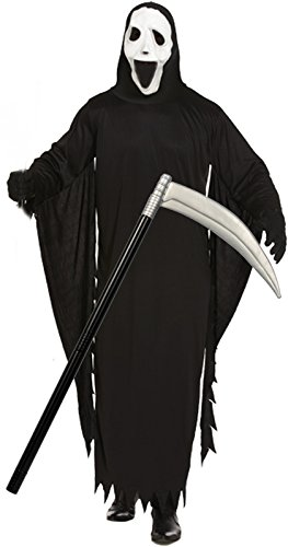 demantel & Maske Halloween-Kostüm mit Scythe (Scythe Halloween)