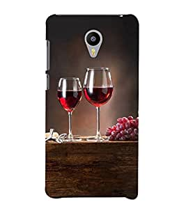 Grapes and Wine 3D Hard Polycarbonate Designer Back Case Cover for Meizu m2 note :: Meizu Blue Charm Note2