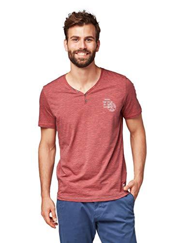 Yarn Dye Stripe Shirt (TOM TAILOR T-Shirt Serafino Yarn dye Stripes 1055914.00.10 4481 (XXL))