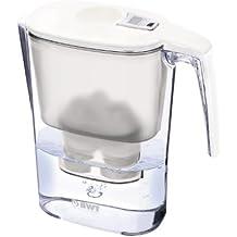 BWT 815470 Slim Tischwasserfilter, 3,6 L, mit einer Kartusche Magnesium Mineralizer für 120 L gefiltertes Leitungswasser, weiß