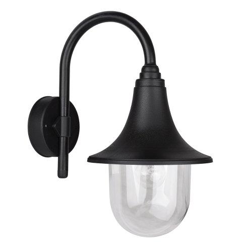 Applique Murale extérieur. IP44 Moderne lanterne de pêcheur. Noir et clair
