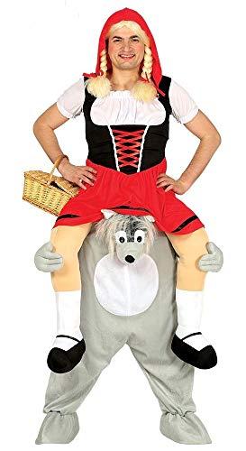shoperama Lustiges Step-In Huckepack Kostüm Piggy Back Aufsitz Reiter Trag Mich JGA Junggesellenabschied, Variante:Rotkäppchen auf ()