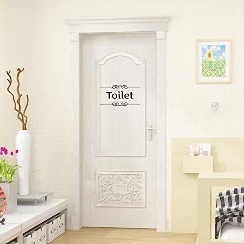 Rvqpytz Toilet& Bathroom Wall Sticker English Alphabet Wall Sticker Toilet Bathroom Sign Special Stickers Black