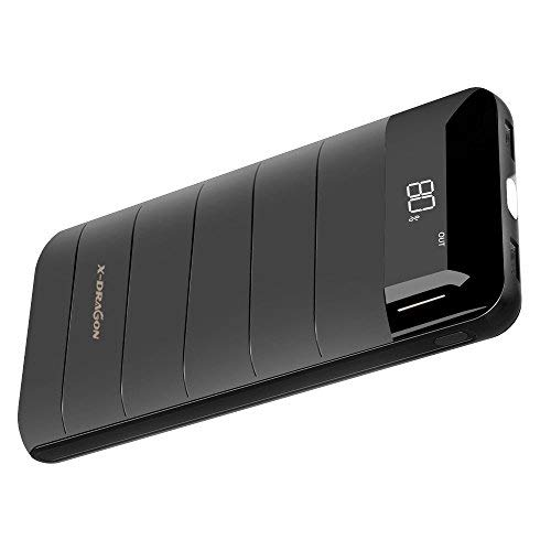 X-DRAGON Power Bank Compatto 20100mAh Caricabatterie Portatile Batteria Esterna Digi-Power Tecnologie e Bright LED per iPhone X/8/7/6s, iPad, Samsung, Smartphones, Huawei, Cellulare, Tablets