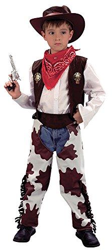 Bristol Novelty CC656Cowboy Kostüm Kuh Chaps W02002, weiß, Small, Alter: ca. 3-5Jahren, Cowboy (S). cowprint chaps