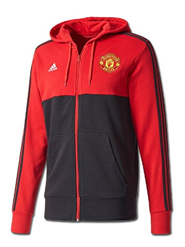 adidas 2017-2018 Man Utd 3S Hooded Zip - Manchester Pullover United