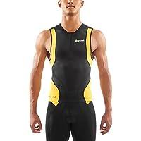 Skins Herren W Tri 400 Mens Top Sleeveless W Zip Black/Yellow
