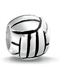 Bling Jewelry 925 Plata Deporte Voleibol De Abalorio