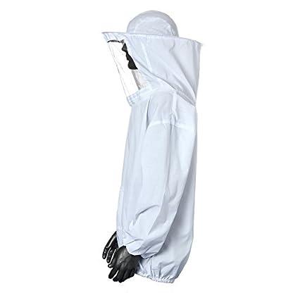 Bee Suit, OUTERDO Protective Beekeeping Veil Smock Beekeeper Suit Coat Jacket Equipment with Hat&Gloves 3