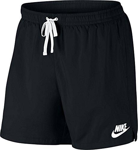 Nike Herren Sportswear Woven Flow Shorts, Black/White, M