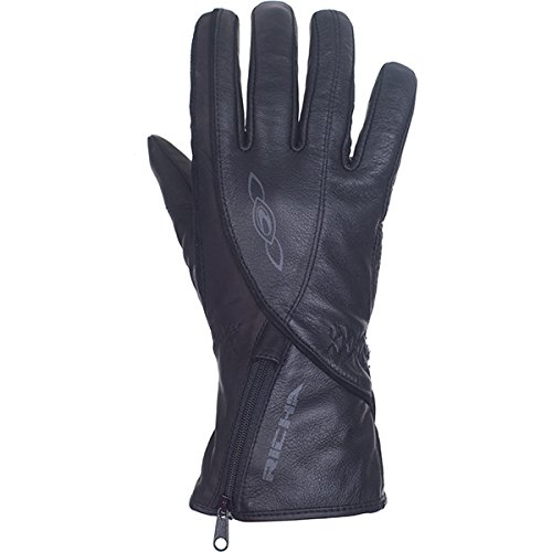 Richa Summer Lilly Damen Motorrad Handschuhe schwarz schwarz S (Damen-textil-handschuhe)