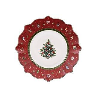 Villeroy & Boch 14-8585-2640 Plato de Desayuno Toy's Delight, para Navidad, 24 cm, Porcelana, Rojo, 24.5×24.5×9.0 cm