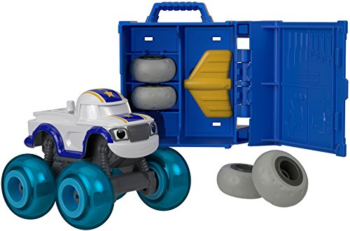 Blaze y los Monster Machines Vehículos taller de ruedas, coche Darington (Mattel FHV40)